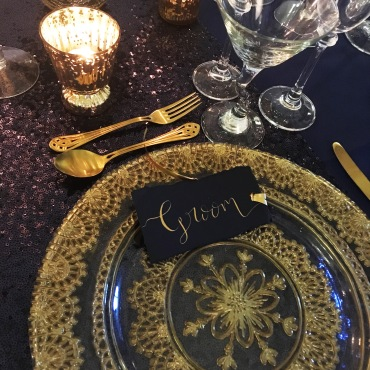 Navy & Gold placecard