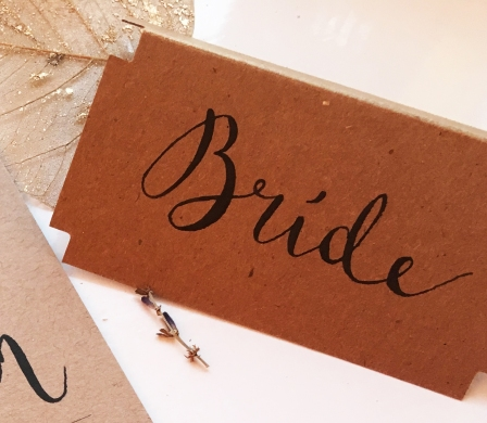 Kraft black placecard