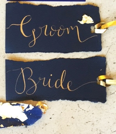 navy & gold place name